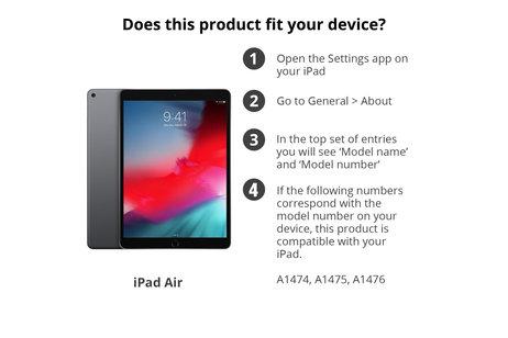 Étui de tablette portefeuille lisse pour l'iPad Air - Noir