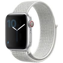 iMoshion Bracelet en nylon Apple Watch Serie 1/2/3/4/5 38/40mm -Blanc