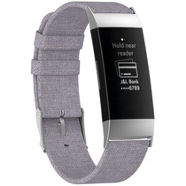 iMoshion Bracelet en nylon Fitbit Charge 3 / 4 - Gris
