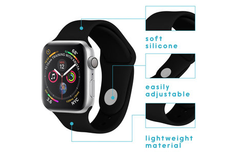 Apple Watch 1/2/3/4/5 42/44 mm hoesje - iMoshion Bracelet silicone pour