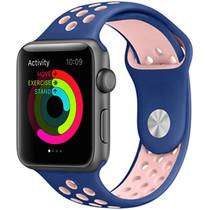 iMoshion Bracelet silicone sport Apple Watch 42/44mm - Bleu / Rose