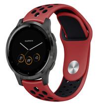 iMoshion Bracelet silicone sport Garmin Vivoactive 4L - Rouge / Noir