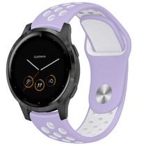 iMoshion Bracelet silicone sport Garmin Vivoactive 4L -Violet / Blanc