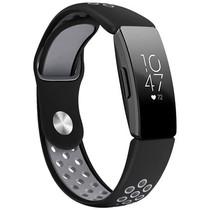 iMoshion Bracelet silicone sport Fitbit Inspire - Noir / Gris