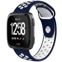 iMoshion Bracelet silicone sport Fitbit Versa 2 / Lite - Bleu / Blanc