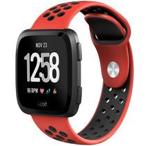 iMoshion Bracelet silicone sport Fitbit Versa 2 / Lite - Rouge / Noir