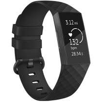 iMoshion Bracelet silicone Fitbit Charge 3 / 4 - Noir