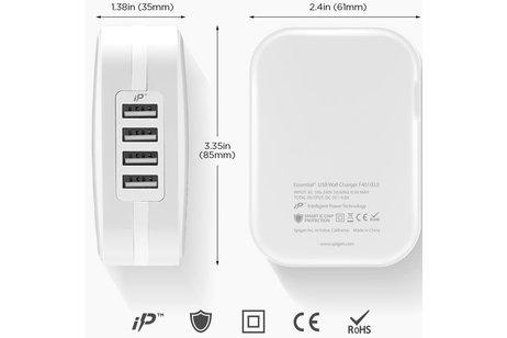 Spigen SteadiBoost 4x USB Wall Charger - Blanc