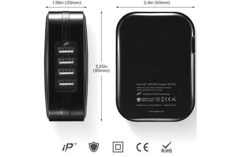 Spigen SteadiBoost 4x USB Wall Charger - Noir