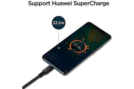 Spigen Essential Braided USB-C vers câble USB - 1,5 mètres - Noir
