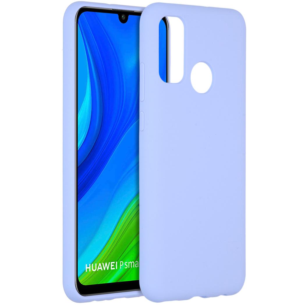Accezz Coque Liquid Silicone pour l'Huawei P Smart (2020) - Violet