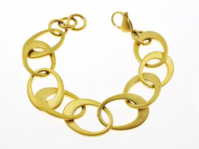 Bracelet acier finition matte et placage or jaune modèle JOYCE