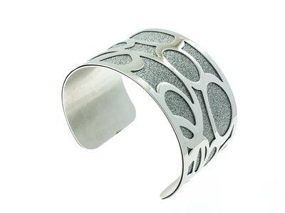 Edelstaal vaste armband met glitter JENNA