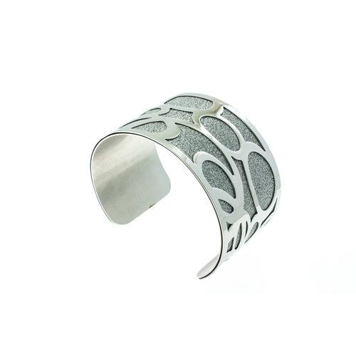 Bracelet acier rigide avec granité JENNA
