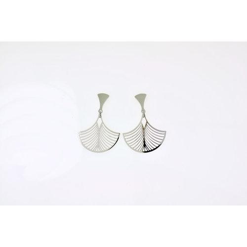Boucles d'oreilles acier modèle LESLIE