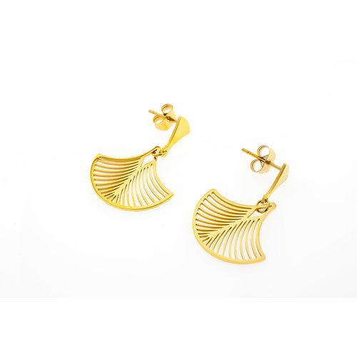 Boucles d'oreilles acier placage or jaune modèle LUCIE