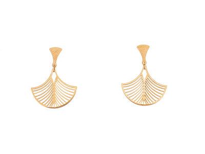 Boucles d'oreilles acier placage or rosé modèle LEONIE