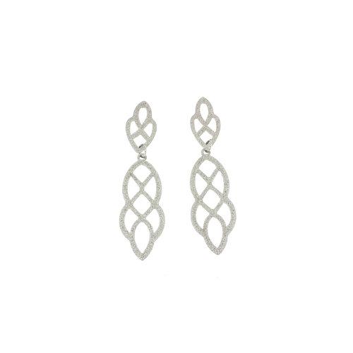 Boucles d'oreilles acier finition matte spéciale YASMIN