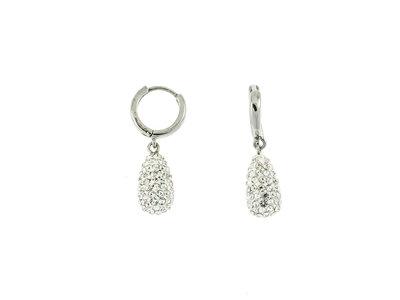Boucles d'oreilles acier avec cristaux ALICE