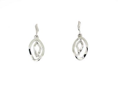 Zilver gehodineerde oorbellen NADIA