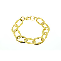 Edelstaal armband verguld met geel goud ROSIE
