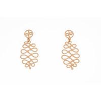 Boucles d'oreilles acier avec finition matte spéciale et placage or rosé ROSA