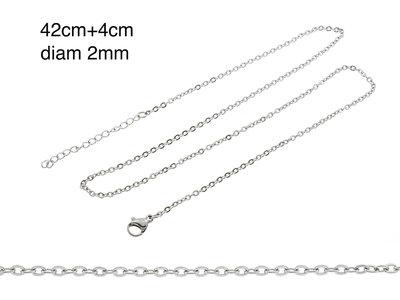 Chaine fine acier pour pendentif MARIE