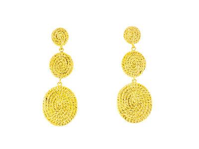 Boucles d'oreilles acier avec placage or jaune CELESTE