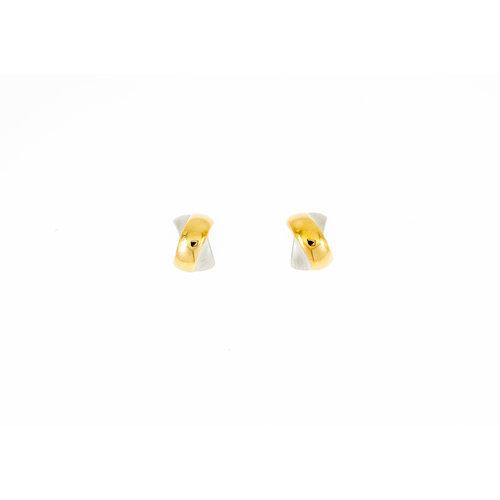 Boucles d'oreilles bicolores plaqué TERESA