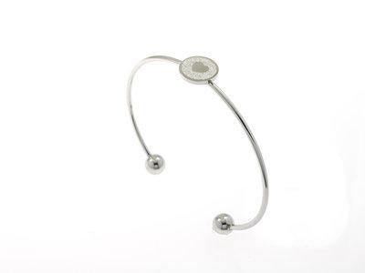 Bracelet rigide fin acier avec coeur SELAH