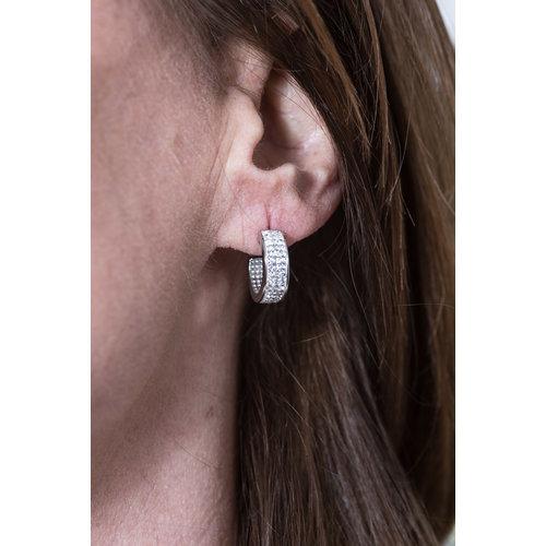Edelstaal oorbellen met kristallen PAMELA