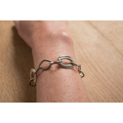 Edelstaal armband model ESTHER