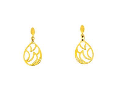 Edelstaal oorbellen verguld met geel goud LISA