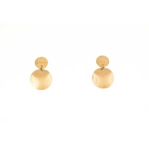 Boucles d'oreilles mattes avec placage or rosé AICHA