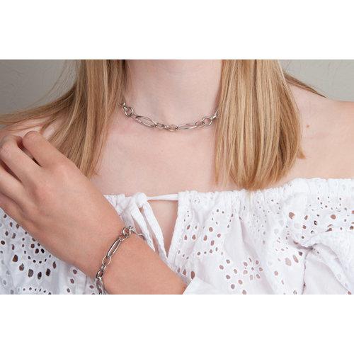 Edelstaal armband model BARBARA