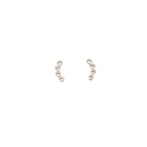 Zilver oorbellen met zirconia JESS