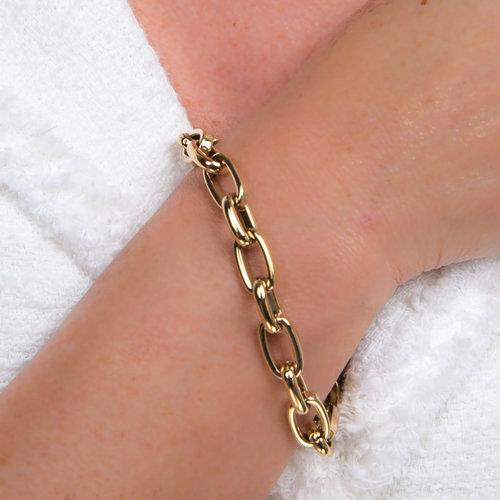 Edelstaal armband verguld met geel goud KIRSTEN