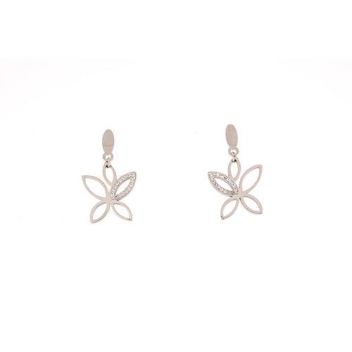 Boucles d'oreilles acier avec des cristaux XENIA