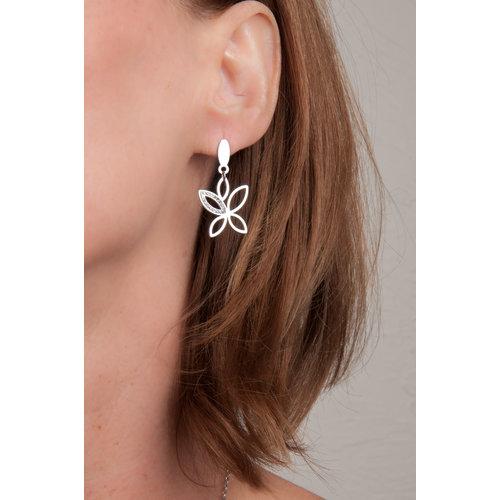 Edelstaal oorbellen met kristallen XENIA
