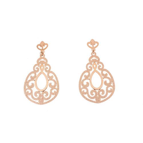 Boucles d'oreilles acier avec placage or rosé HANNAH