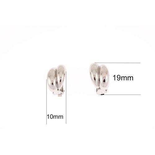 Boucles d'oreilles CLIP avec placage palladium CHRISTINA