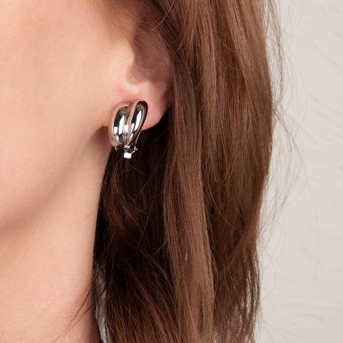 CLIP oorbellen met palladium placage CHRISTINA