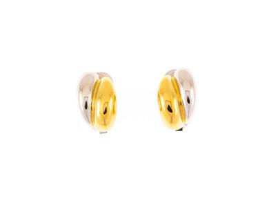 CLIP oorbellen met palladium en goud placage SONJA