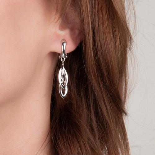 CLIP oorbellen met palladium placage MINDY