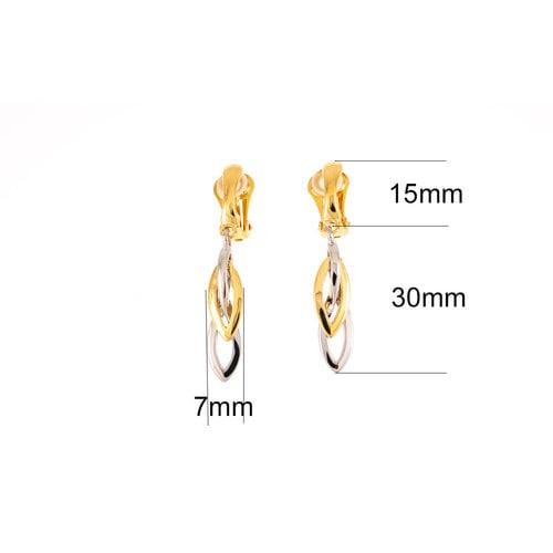 Boucles d'oreilles CLIP avec placage d'or et de palladium MIKA