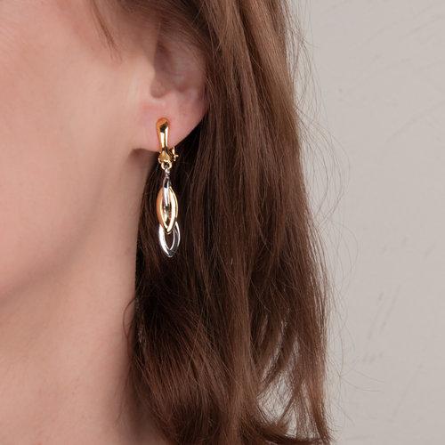 CLIP oorbellen met palladium en goud placage MIKA