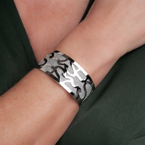 Edelstaal vaste armband ELISA