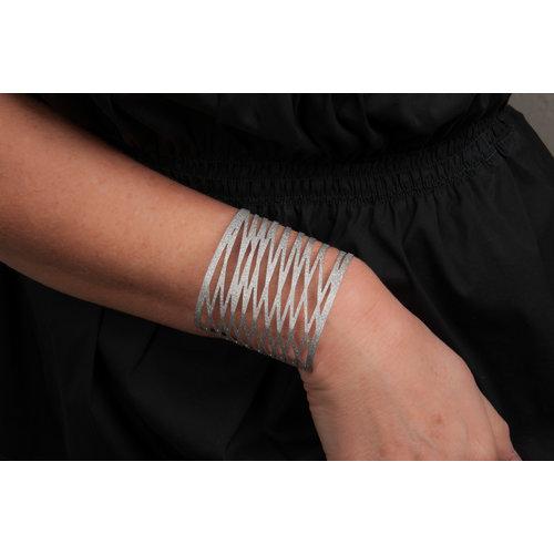 Edelstaal vaste armband  met speciale matte afwerking ADELE