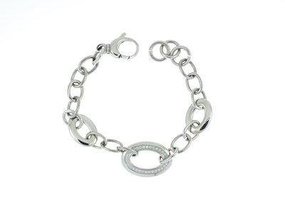 Bracelet acier avec zirconium KRISTIN