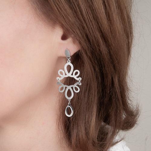 Boucles d'oreilles acier VIRGINIA